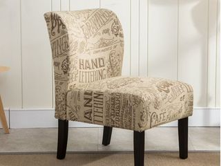 The Curated Nomad Pavilion Upholstered Armless Accent Slipper Chair- Retail:$138.99