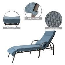 Outdoor Recliner Adjustable Chaise Lounge Chair with Cushion & Pillow - 79.53