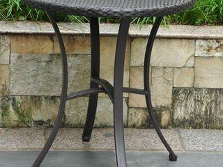 International Caravan Barcelona Resin Wicker/Aluminum 28-inch Round Outdoor Bistro/Side Table- Retail:$136.49