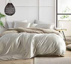 Velvet Crush - Coma Inducer Oversized Duvet Cover - Crinkle Iced Almond- Retail:$156.99