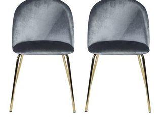 Carson Carrington Saigs Velvet Diamond Dining Chair (Set of 2)- Retail:$231.49