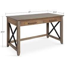 kate and laurel mcgovern desk 2 draw desk natural