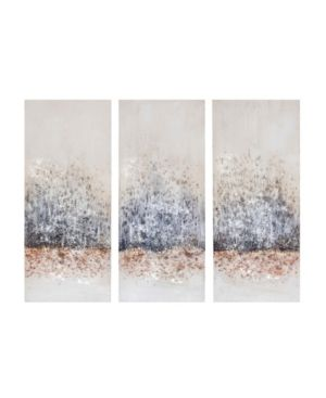 Madison Park Twilight Mystere Blush  Grey 100 Percent Hand Brush Embellished Canvas 3 Piece Set    blush  grey  Retail 133 49