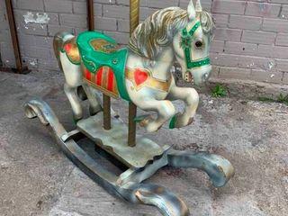 Vintage Merry go Round rocking horse