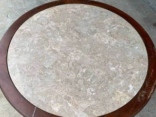 Marble round coffee table