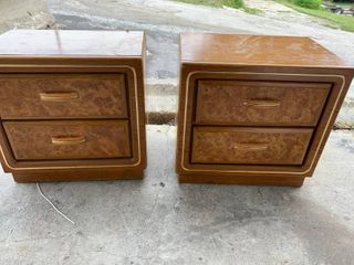 Pair of wooden night stands