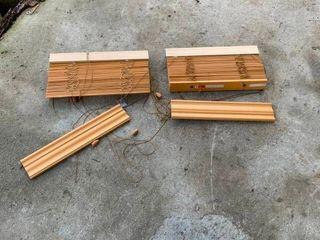 Wood mini blinds