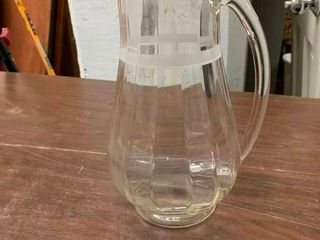 Beautiful glass beverage pitcher