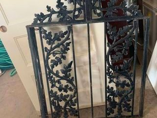 Rod iron fence gate