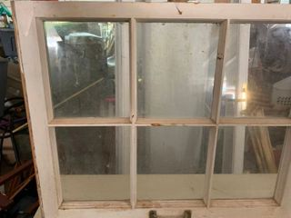 Antique 6 pane window
