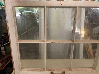 Antique 6 pane window