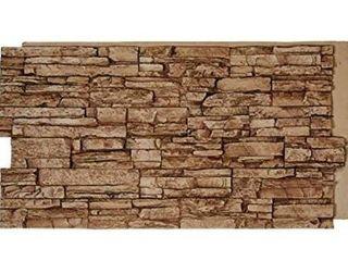 2 faux rock wall