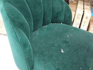 Green Felt chair NO lEGS