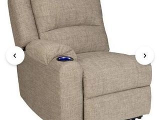 Beige Seismic Series Modular Right Hand Recliner Home Theater Sectional