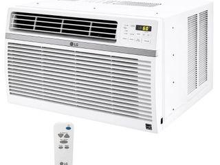 lG lW2516ER 24 500 BTU 230V Window Mounted Air Conditioner with Remote Control