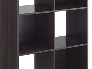 whitmor 6 cube organizer Dark Brown not inspected