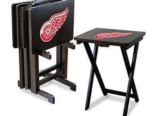 NHl Detroit Red Wings TV Trays with Stand