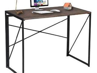 Board with metal desk brown black