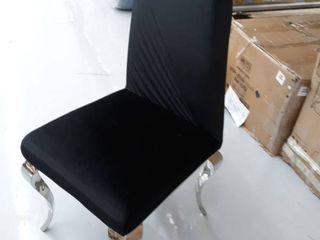 Black Chair with chrome legs