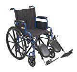 Transport WheelchairWheelchairs K1 Product Description  BlueStreak 20 D FlipBackArms Elvleg 1 ea