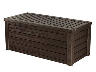 Keter Westwood 150 Gallon Resin Outdoor Deck Box/Storage Bench