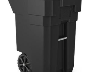 Suncast Commercial 65 Gallon Max Load Trash Can. ( Black )