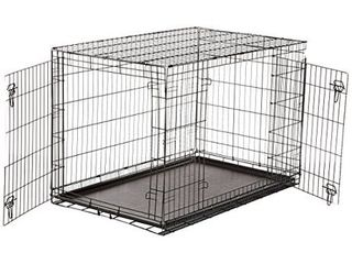 48 Inch Pet Carrier Double Door Travel Crate Dog Cage   Xlarge  48x30x32 Inches