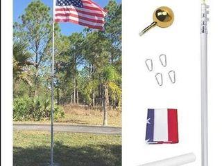 Gientan 20  Telescopic Flag Pole Kit silver