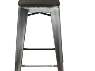 Gia Design Group 30 inch Stool    light color Wood Seat