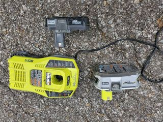 Ryobi lirhiun Plus 18 Volt Charger with 2 Batteries  Tested and Working