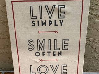 live Smile love Wall Art location Beside Shelf 5
