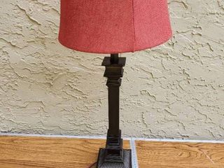 Single lamp With Red lamp Shade