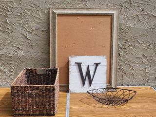 Office Decor lot of Pegboard and Wooden W