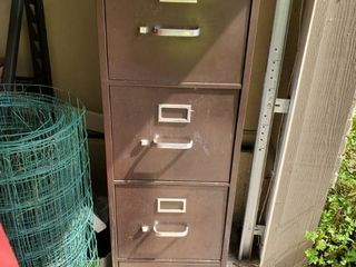 4 Drawer HON Brown Metal Filing Cabinet