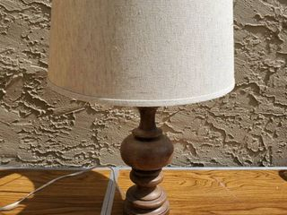Wooden Base lamp