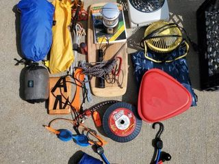 lot of Camping Starter Gear