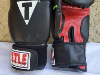 Pair if Title Boxing Gloves 12Ounce  Red and Black