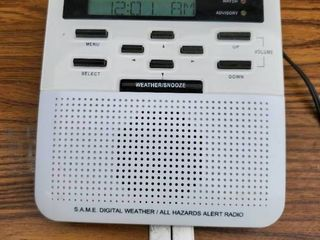 Midland Public Alwrt All Hazards Weather Radio Powers On