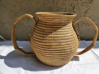 Wicker Floral Vase with Handles