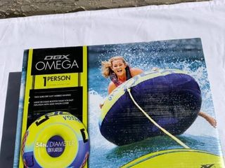 Unopened DBX Omega 1 Person Towable Donut Tube location Shelf 2