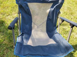 Blue and Mesh Metal Framed lawn Chair