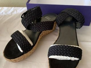 Stuart Weitzman Alex Espadrillo Sandal Size 8 5 location Shelf 4