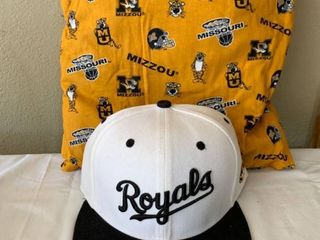 Rally House Royals Hat and MU Pillow location Shelf 4