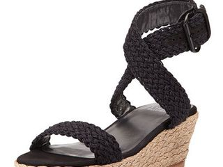 Stuart Weitzman Alexlo Crochet Wedge Sandal  Nero    9  location Shelf 4