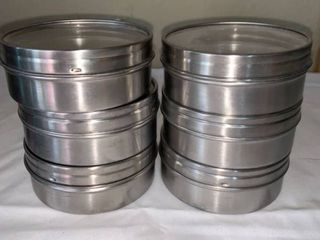 Set of 6 IKEA Magnetic Canisters 1 5 x 3 5 Inch location Shelf 5