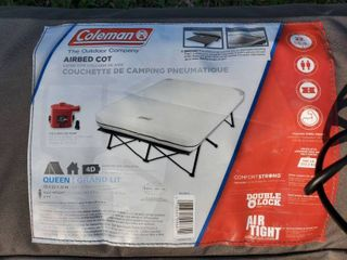 Queen Size Coleman Airbed Cot with Mattress  No Pump