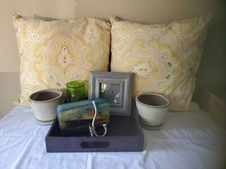 lot of Grey   Mustard Yellow Accent Home Decor