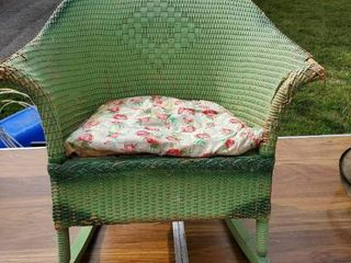 Antique Childrens Wicker Rocking Chair   Needs TlC but Has Potential with love