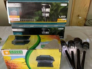 Set of 3 Solar Powered light Sets and 5 Singles location Shelf 2