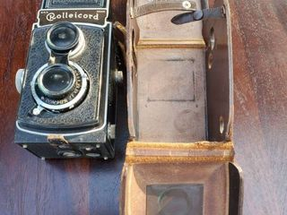 Rolleicord Compur Cintage Camera with leather Traveling Case